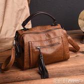 手提包 包包手提包女韓版時尚簡約百搭斜挎包機車休閒軟皮單肩包 瑪麗蘇