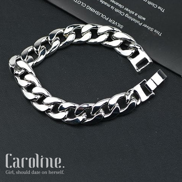 《Caroline》★流行時尚韓國流行權志龍GD同款簡約百搭光面手環69782