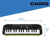 【卡西歐CASIO官方旗艦店】彌月禮 32鍵迷你電子琴兒童.幼兒適用SA-46(綠色) 含變壓器