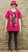 【 BETTY des BETTY 】貝蒂春夏品牌服飾特賣~旗袍貝蒂配花印字長版上衣 NO.B11208