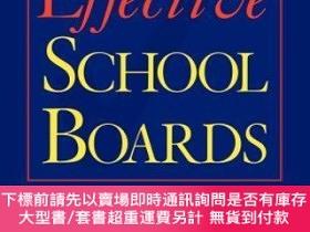 二手書博民逛書店預訂Effective罕見School Boards: Strategies For Improving Boar