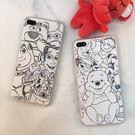 【紅荳屋】素描維尼胡迪  蘋果i5s/iphone7/ 7plus/ 6splus/5s手機殼