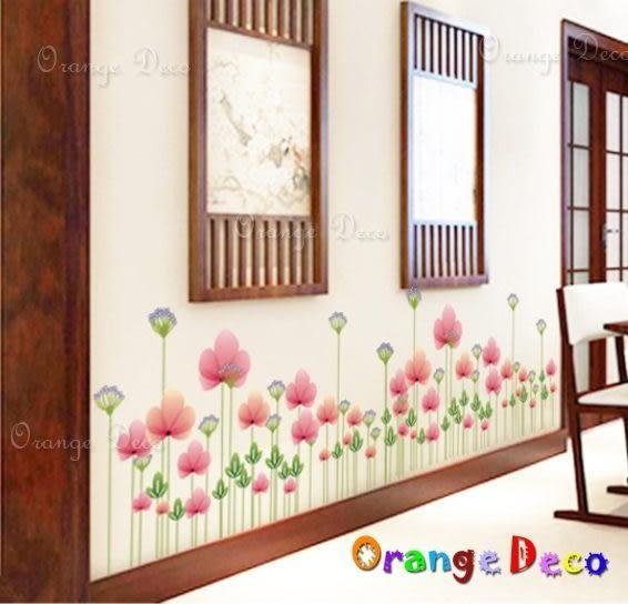 壁貼【橘果設計】蓮花 DIY組合壁貼/牆貼/壁紙/客廳臥室浴室幼稚園室內設計裝潢