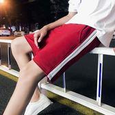 售完即止-夏天五分短褲男韓版BF風休閒5分褲學生運動寬鬆沙灘大褲衩潮10-9(庫存清出S)