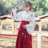 襦裙日常漢服民國古風改良女裝古裝中國風套裝【聚可愛】