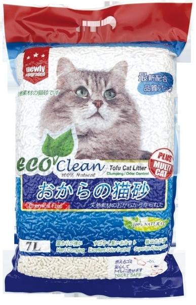 *WANG*【6包組-免運】《ECO艾可豆腐貓砂-原味|綠茶|玉米》7L/包 貓砂 環保 除臭