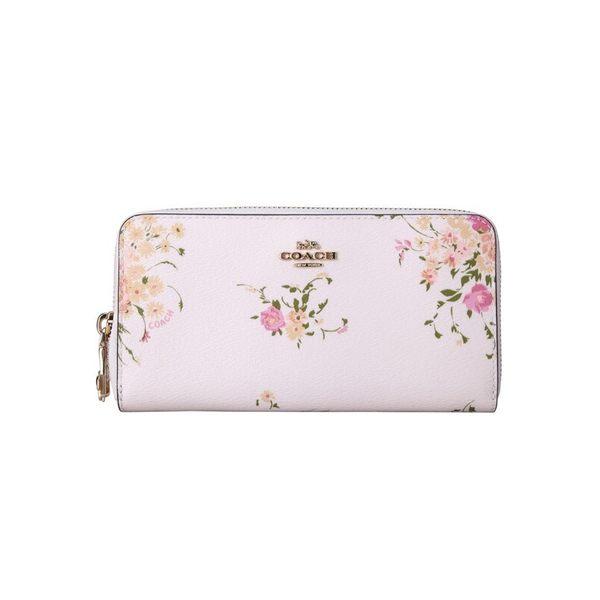 COACH 29384 女士女包錢包錢夾PVC長款白色印花