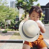 兒童帽子 女嬰童帽子手工日繫蝴蝶結女寶寶草帽 珍妮寶貝