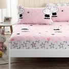 【限時下殺89折】床包 全棉夾棉床包單件 棉質卡通加厚床套1.8床罩1.5m席夢思床墊保潔墊