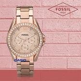 FOSSIL 手錶 專賣店 ES2811 女錶 石英錶 玫瑰金不鏽鋼錶帶  防水 防刮礦物  全新品 保固一年 開發票