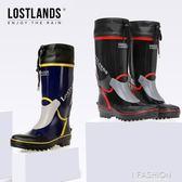 日式優品橡膠靴高筒男式雨靴防滑耐磨工礦靴釣魚鞋膠鞋水鞋雨鞋-Ifashion