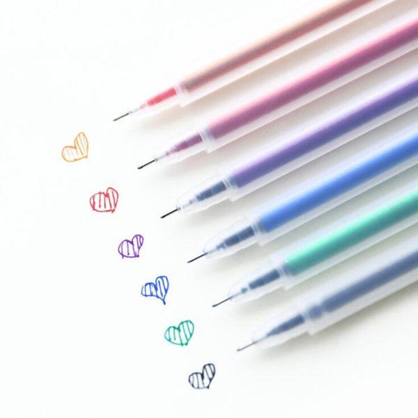 【筆紙膠帶】韓國文具 簡約風 透明 磨砂 水彩筆 中性筆 0.5mm 原子筆