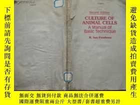 二手書博民逛書店Culture罕見of animal cells : a manual of basic technique(動物