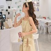 原創森女部落春秋兩件套背帶洋裝春裝新款套裝2021年款吊帶裙子 設計師
