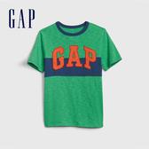 Gap男童撞色條紋徽標短袖T恤539649-翠綠