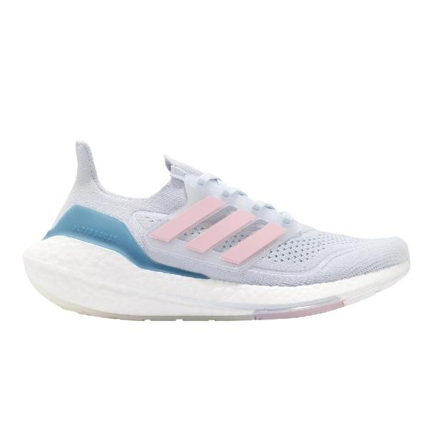 adidas 慢跑鞋 Ultraboost 21 W 粉紫 藍 粉紅 愛迪達 BOOST 女鞋【ACS】 FY0395