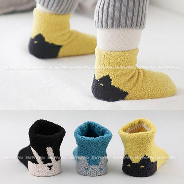 厚款童襪 寶寶襪卡通珊瑚絨短襪 嬰兒襪 防滑襪 0-4歲 CA1760 好娃娃