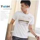 【大盤大】(T20973) 男 台灣製 100%純棉T恤 短袖工作服 白 燙金T 運動 跑步 特價打底衫【剩M號】