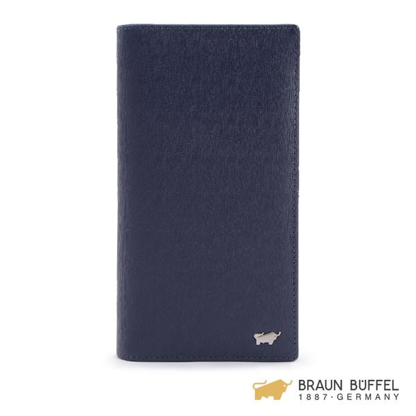 【BRAUN BUFFEL】HOMME-M系列17卡長夾 -深藍 BF306-301-MAR