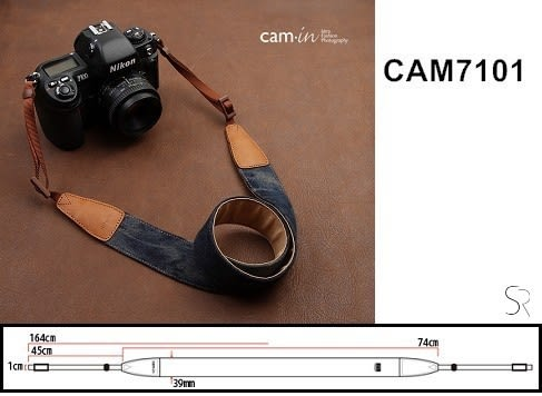 《 統勛.照相》Cam-in CAM7101 相機背帶 牛仔背帶系列 單寧藍 牛仔系列