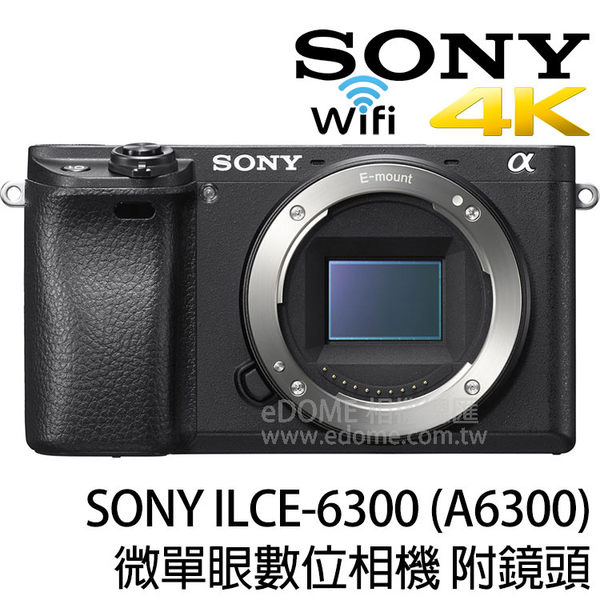 SONY a6300 附 SIGMA MC-11 + 18-300mm Contemporary 贈原電組 (24期0利率 免運 公司貨) E-mount 微單眼