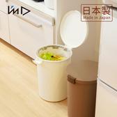 【 岩谷Iwatani 】圓形可分類密封防臭垃圾桶12 4L 白