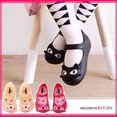 童鞋 女童可愛俏皮貓咪造型果凍鞋 涼鞋