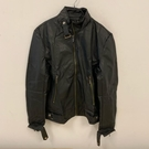 韓版顯瘦修身基本款黑色皮衣(XL號/121-4981)