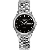 LONGINES浪琴 Flagship旗艦真鑽機械錶-黑x銀/38.5mm L48994576