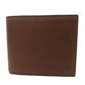 【COACH】8卡男款短夾附活動證件夾(棕色)