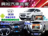 【專車專款】2011~2015年 Hyundai IX35 適用7吋彩色液晶全觸控DVD主機