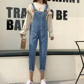 秋裝韓版新款帥氣個性背帶褲女寬鬆休閒長褲