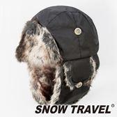 【SNOW TRAVEL】極地保暖遮耳帽『黑』AR-55 旅遊│賞雪│透氣│防風│保暖帽│遮耳帽│蒙古帽
