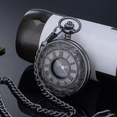 懷錶時尚復古翻蓋經典羅馬字男女項白領學生毛衣手錶老人掛錶【八五折限時免運直出】
