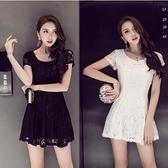 現貨黑L蕾絲洋裝連身裙禮服19646