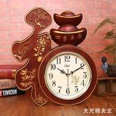 康巴絲客廳掛鐘臥室辦公靜音壁鐘表創意中國風福字家用電子石英鐘 JY1855【大尺碼女王】