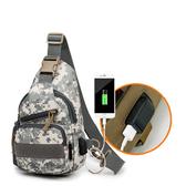 全館83折帆布戰術包單肩胸包USB線胸包帶水壺套路亞包斜挎包戶外斜跨包