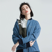SISJEANS-中藍復古鋪棉牛仔外套【1729301508】