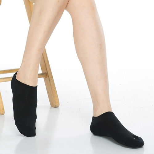 【南紡購物中心】【KEROPPA】可諾帕網狀造型女船襪x4雙C97001黑色