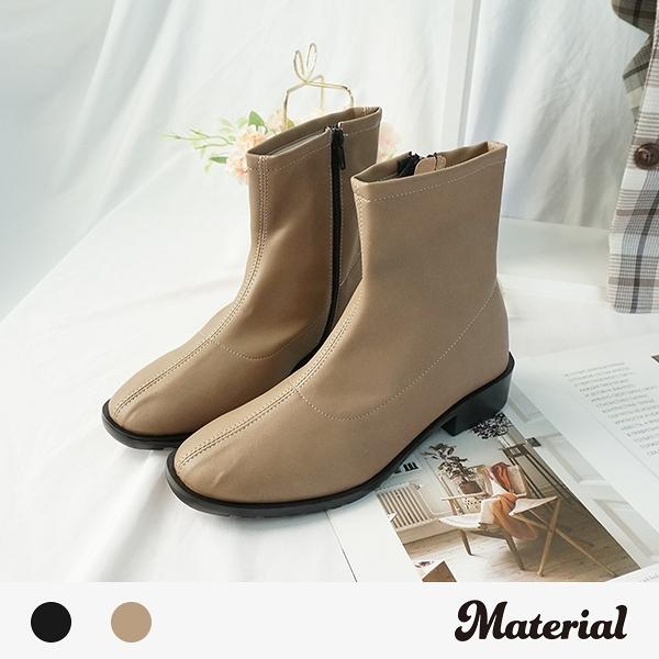 短靴 簡約壓線尖頭短靴 MA女鞋 T6198