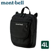 【Mont-Bell 日本 TRAVEL POUCH M 單肩包《黑》4L】1123892/斜肩包/側背包/休閒包/隨身包/旅遊