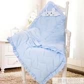 純棉秋冬加厚嬰兒抱被 新生兒包被初生春秋被子 包巾裹布花邊報被 母親節特惠