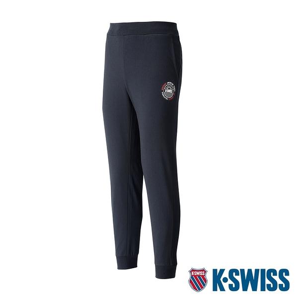 【超取】K-SWISS Vintage Sweat Pants棉質長褲-女-黑