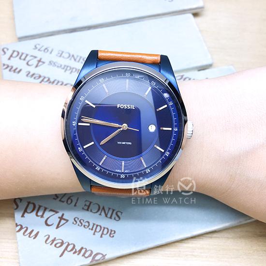 FOSSIL美國品牌MATHIS簡約紳士真皮腕錶FS5422公司貨/禮物