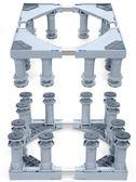 黑五好物節12腳全自動洗衣機底座托架海爾小天鵝滾筒支架增高加高墊腳架通用架子igo 第七公社