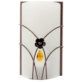 水晶玻璃曲線單壁燈