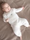 新生嬰兒衣服秋冬純棉保暖睡衣初生男女寶寶連體衣秋冬裝加厚哈衣 潮流衣館