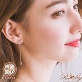 耳環 韓國直送水鑽蛋白石鏤空蝴蝶垂墜耳環-Ruby s 露比午茶