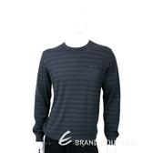 TRUSSARDI 100%羊毛撞色條紋針織羊毛衫 1710688-11