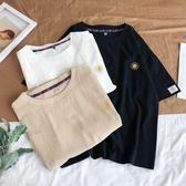 棉麻短袖T恤男士2019夏天新款加肥大碼印花上衣學生韓版潮流半袖 ☸mousika